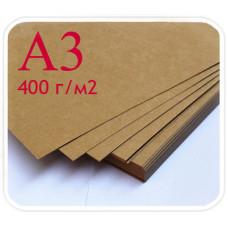 Лист крафт-бумаги картон А3, плотность 400 г/м2