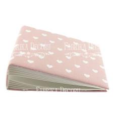 Заготовка альбома в мягкой обложке, Сердечки на розовом, 7 разворотов, 20х20 см, Фабрика Декора