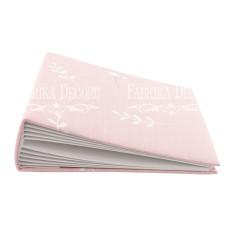 Заготовка альбома в мягкой обложке, Веточки на розовом, 7 разворотов, 20х20 см, Фабрика Декора
