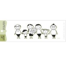 "Акриловый штамп ""Большая семья"", размер 9,7х3,3 см"