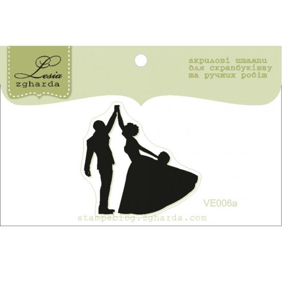 """Акриловый штамп """"Жених и невеста в танце"""", размер 3,4х3,2 см"""