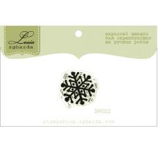 """Акриловый штамп """"Снежинка"""", размер 1,9х1,8 см"""