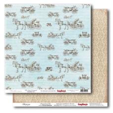 Двусторонняя бумага Версаль - Королевский двор 30х30 см от ScrapBerry's