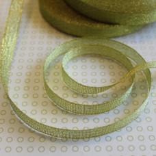 Блестящая лимонная золотая лента из полиэстера, длина 90 см, ширина 10 мм