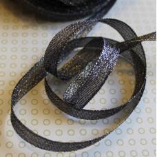 Блестящая черная лента из полиэстера, длина 90 см, ширина 9 мм
