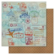 Двусторонняя бумага Stamp It 30х30 см Ruby Rock-It