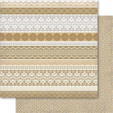 Двусторонняя бумага Gold Lace 30х30 см от Ruby Rock-It