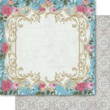 Двусторонняя бумага Blue Bloom 30х30 см от Ruby Rock-It