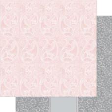Двусторонняя бумага Pink & White Splendid 30х30 см от Ruby Rock-It