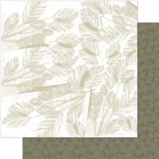 Двусторонняя бумага Neutral Leaf 30х30 см от Ruby Rock-It