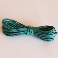 Вощеный шнур цвета морской волны 5 м