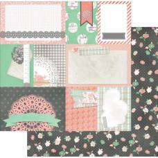 Двусторонняя бумага Seamstress 30х30 см от Bo-Bunny