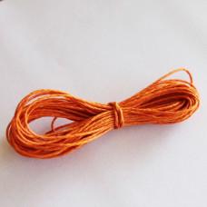 Вощеный шнур оранжевого цвета 5 м