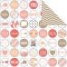 Двусторонняя бумага Memo Circles 30х30 см от Teresa Collins