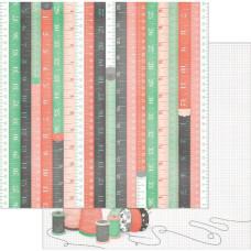 Двусторонняя бумага Measurements 30х30 см от Bo-Bunny