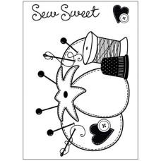Акриловый штамп Sew Cute от Hot Off The Press