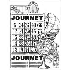 Акриловый штамп Journey, 10х7 см от компании Kaisercraft