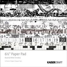 Набор бумаги Black and White Timeless, 16х16 см, 50 листов от Kaisercraft