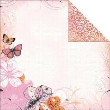Двусторонняя бумага Peach 30х30 от Kaisercraft