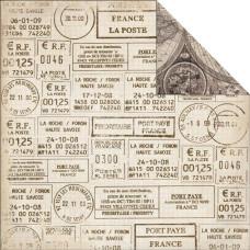 Двусторонняя бумага Postmarks 30х30 от Kaisercraft