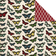 Двусторонняя бумага Butterflies 30х30 см от Echo Park
