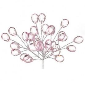Мини-веточки с акриловыми капельками розового цвета, 6 шт от Hobby and You