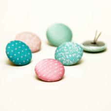 Набор тканевых брадсов Cupcake Boutique, 6 шт, 2 см от Dovecraft