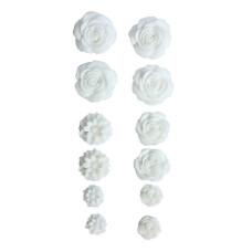 Набор кабошонов на клеевой основе белого цвета, 12 шт от ScrapBerry's
