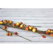 Веточка с красно-желтыми ягодками, 44 см от ScrapBerry's