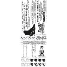 Акриловый штамп Boutique от Kaisercraft, 13х5 см