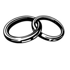 "Акриловый штамп ""Свадьба"" 3.2х1.5 см"