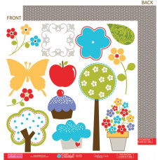 Двусторонняя бумага Cute Cuts 30х30 см от Bella BLVD