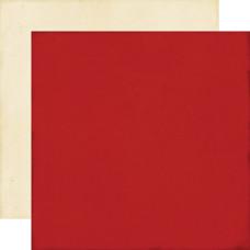 Двусторонняя бумага Red/Cream 30х30 см от Echo Park