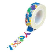 Бумажный скотч Rainbow Paints 9 м, 15 мм от компании Queen and Co