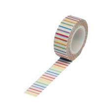 Бумажный скотч Rainbow Pencil Stripe 9 м, 15 мм от компании Queen and Co