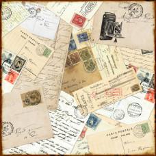 Двусторонняя бумага Darling Damask 30х30 см от компании Echo Park