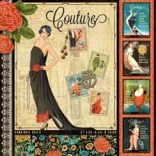 Двусторонняя бумага для скрапбукинга Couture 30х30 см от Graphic 45