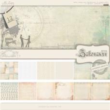 """Набор бумаги """"День влюбленных"""" 15х15 см, 12 листов от Lesia Zgharda"""
