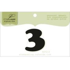 """Акриловый штамп """"Цифра 3"""" 2,7 х 2,3 см"""