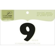 """Акриловый штамп """"Цифра 9"""" 2,4 х 2,8 см"""