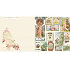 Двусторонняя бумага Mademoiselle 30х30 см от Webster's Pages