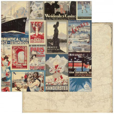 Двусторонняя бумага Travel 30х30 см от Authentique Paper