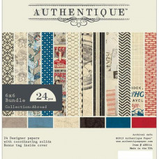 Набор бумаги Abroad 15х15 см, 12 листов от компании Authentique