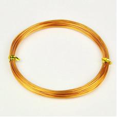 Алюминиевая проволока золотистого цвета, длина 10 м