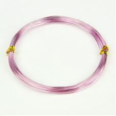 Алюминиевая проволока розового цвета, длина 10 м