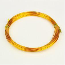 Алюминиевая проволока золотого цвета, длина 10 м
