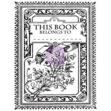 Акриловый штамп This Book Belongs To 6,3х7,6 см от компании Prima