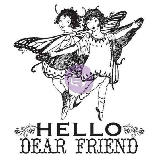 Акриловый штамп Hello Dear Friend 6,3х7,6 см от компании Prima
