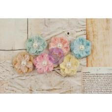 Набор тканевых цветочков Fabric Ballroom, 6 шт от Prima