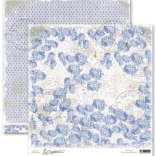 Двусторонняя бумага Vintage Blue Hydrangea, 30х30 см от Magnolia